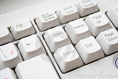 Keyboard with russian keys background
