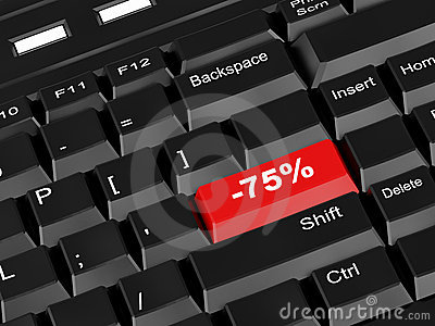 Keyboard - with a  seventy five percent