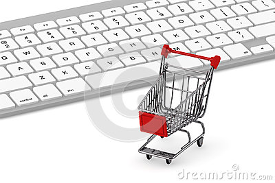Keyboard and a shopping cart