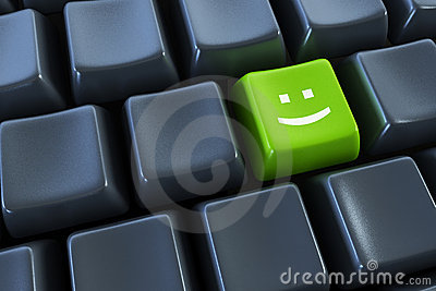 Keyboard with smile button