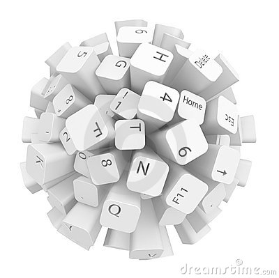Free Keyboard Sphere Stock Photos - 19276293