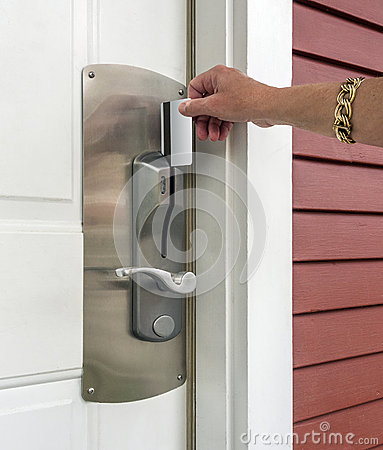Keycard access to holtel