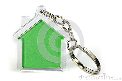 Keychain with figure of house