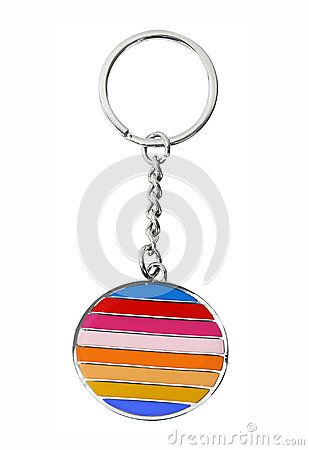 Keychain isolated on white