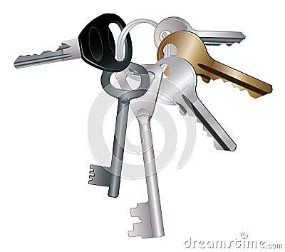 Keychain with keys