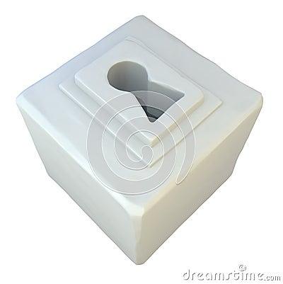 Keyhole Box, White