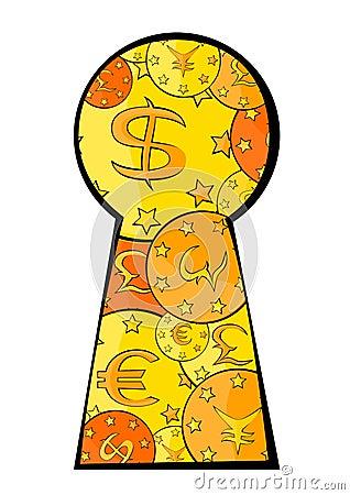 Keyhole cash
