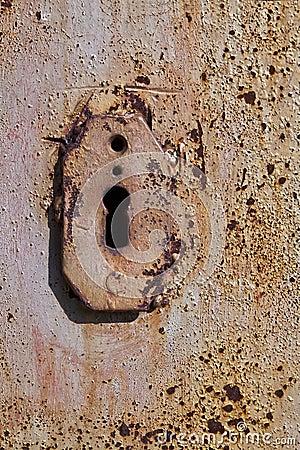 Keyhole close-up