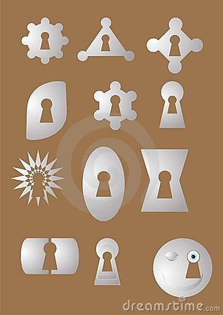 Keyhole of the different form