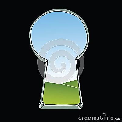Keyhole illustration