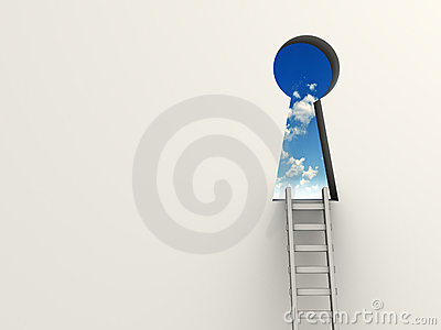 Keyhole and ladder