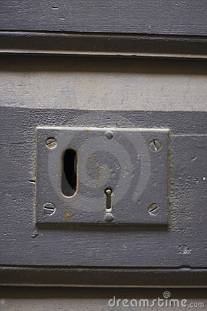 Keyhole of old doorlock