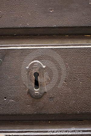 Keyhole of old doorlock 2