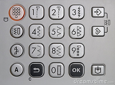 Keypad of a sewing machine