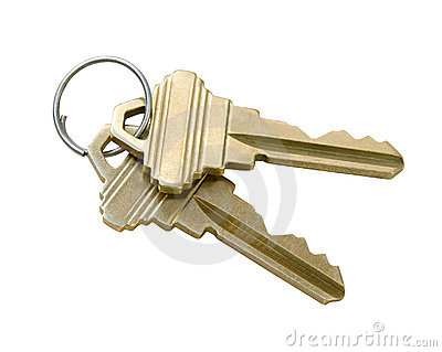 Keys with Clipping Path