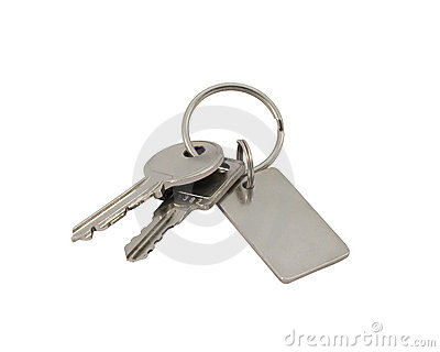 Keys with clipping path.