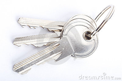 Keys CloseUp Isolated