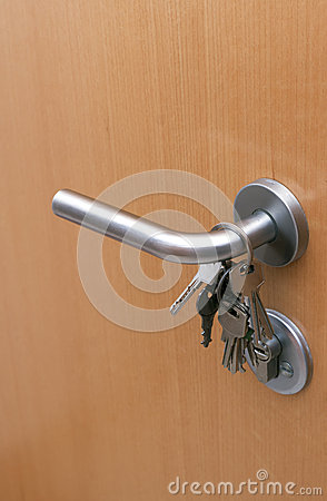 Keys on the door handle