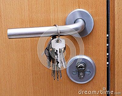 Keys on the door handle