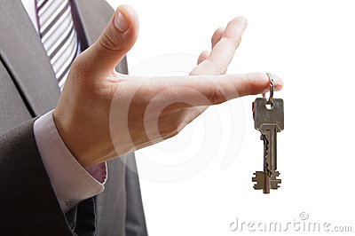 Keys on finger
