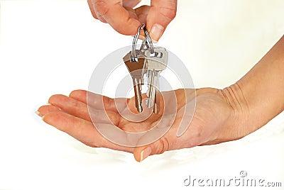 Keys in hands