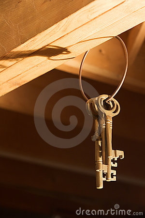 Keys hanging from Rafters (Vertical)