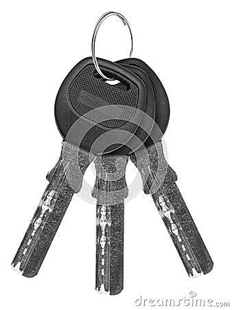 Keys isolated on white