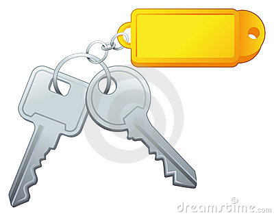 Keys with label.