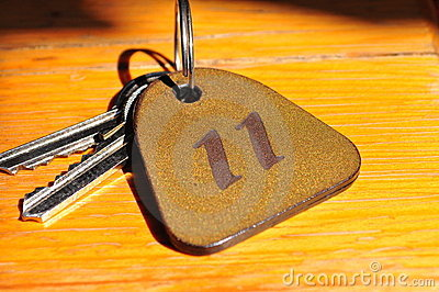 Keys with number 11 tag