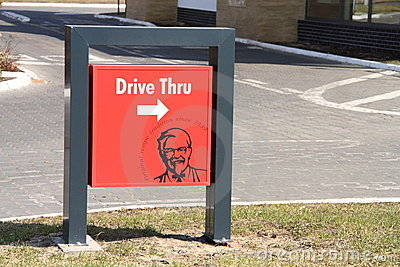 KFC Drive Thru Editorial Photo