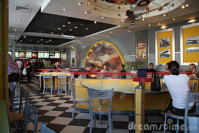 KFC fast food cafe interior Editorial Photo