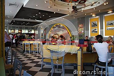 KFC fast food cafe interior Editorial Photo