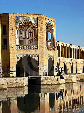 Khaju Bridge in Esfahan Editorial Stock Image