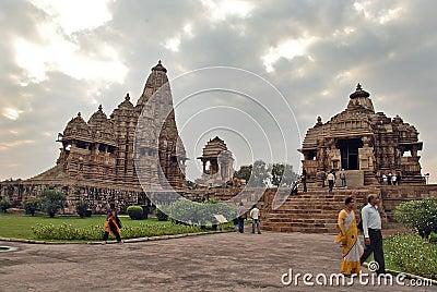 Khajuraho Temple in India Editorial Image