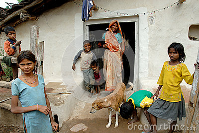 Khajuraho Village People Editorial Image