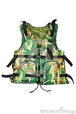Khaki life vest