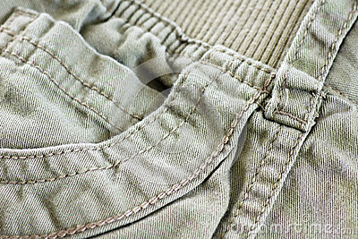 Khaki pocket with details