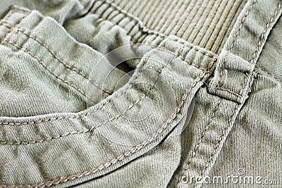 Khaki pocket with details
