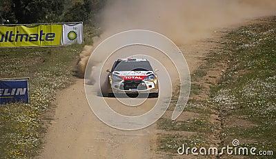 Khalid Al Qassimi in Rally de Portugal 2013 Editorial Image