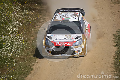 Khalid Al Qassimi in Rally de Portugal 2013 Editorial Photo