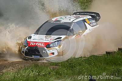 Khalid Al Qassimi in Rally de Portugal 2013 Editorial Stock Photo