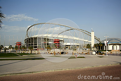 Khalifa International Stadium in Doha, Qatar Editorial Photography