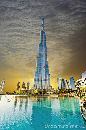 Khalifa Tower Editorial Stock Photo