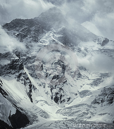 Free Khan Tengri Peak A Winter Storm. 7010m Stock Images - 83266844