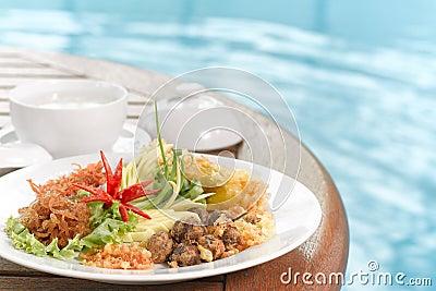 Khao Chae, Thai food