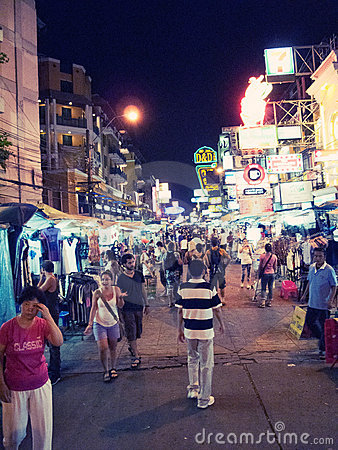 Khao  San road Editorial Photography