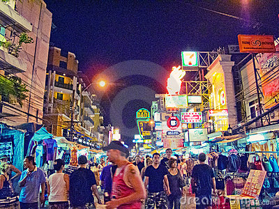 Khao  San road, Thailand Editorial Photography
