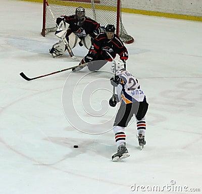 Kharkov- Donbass ice hockey match Editorial Photo