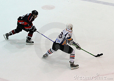 Kharkov- Donbass ice hockey match Editorial Image