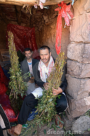Khat dealer Editorial Stock Image